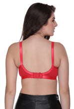 Perfecto Plus Size Red Color Full Cup Everyday Full Coverage Cotton Bra