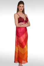 S-177 Maroon Satin BabyDoll Nightwear Dresses With Panty (Free Size)
