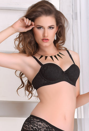 098e4c97b23 Salsa 36 Women Black Lace Wire Free T-Shirt Padded Bra