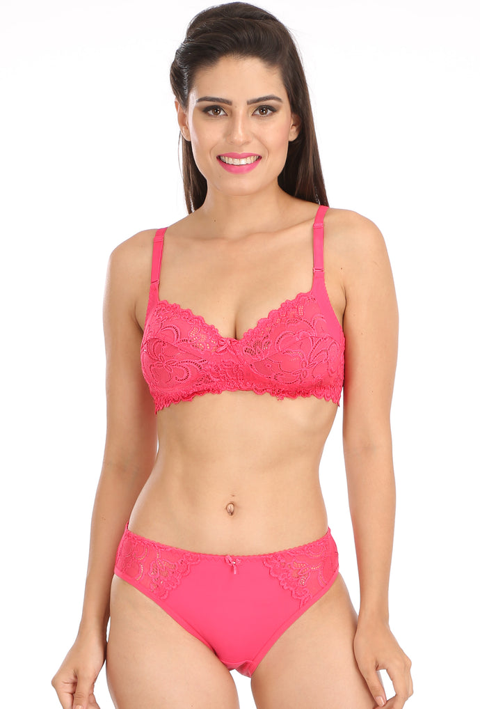 dadeadba03 ... Salsa 5503 Maroon Lace Full Coverage Non Padded Bra   Panty Sets ...