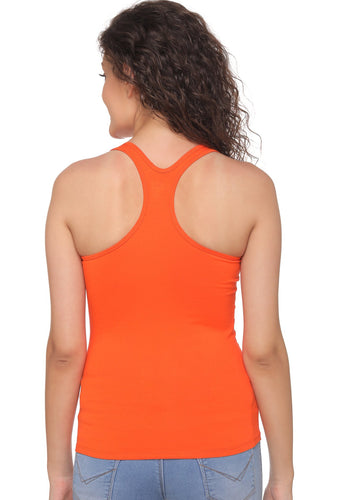 Orange Racer Back 8008 Camisole