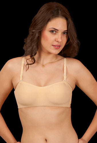 Blossom Beige Everyday Demi Cup Non-Padded  Multiway T-Shirt Bra - Sona Lingeries