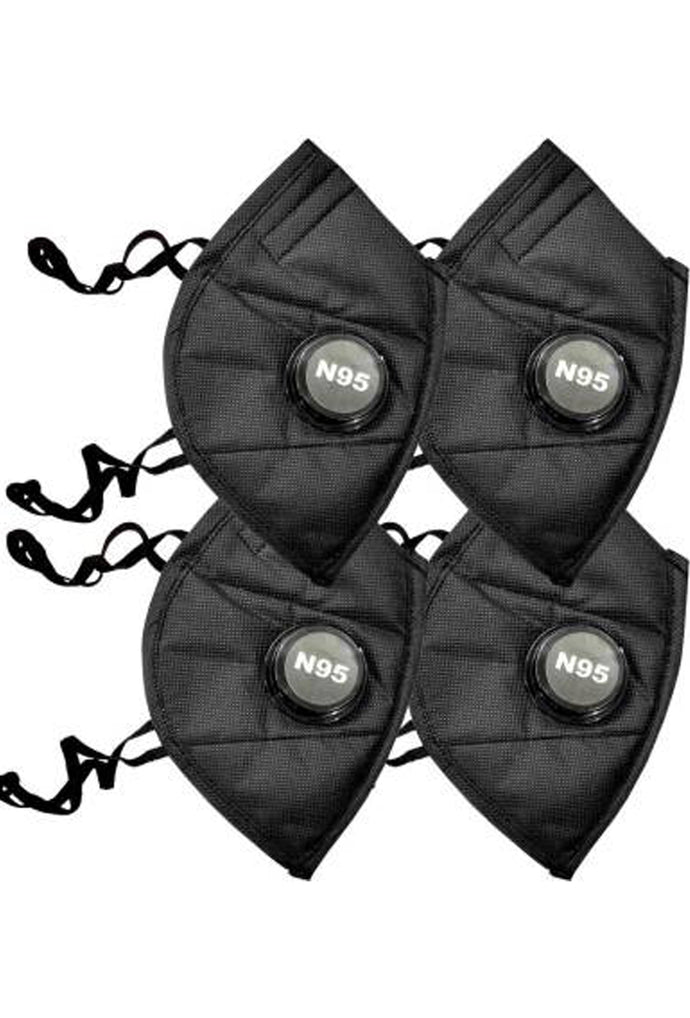 Sona Anti-Pollution N95 Black Mask Capacity 5 Layered Mask Pack of 4