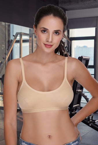 Skin Full Coverage Cotton Sports Bra 11 - Sona Lingeries
