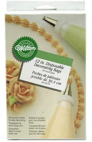 "12"" Disposable Decorating Bags by Wilton"