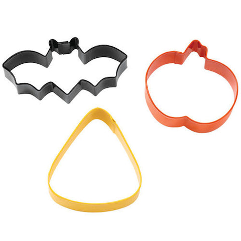 bat, pumpkin and candy corn cookie cutter set