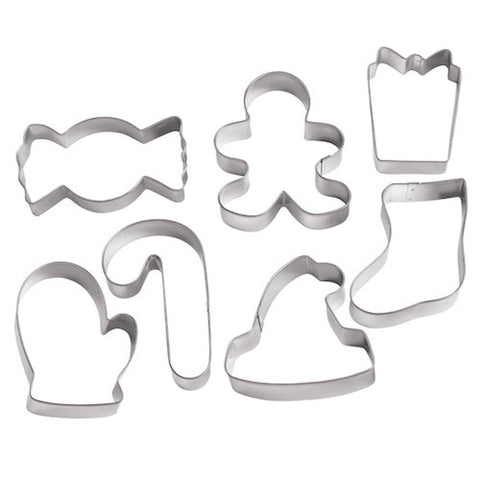 winter holiday christmas cookie cutter set
