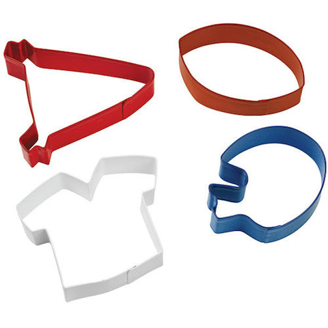 Football Theme Cookie Cutter Set