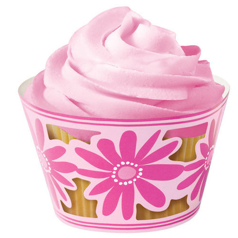 Pink Flower Party Cupcake Wraps by Wilton