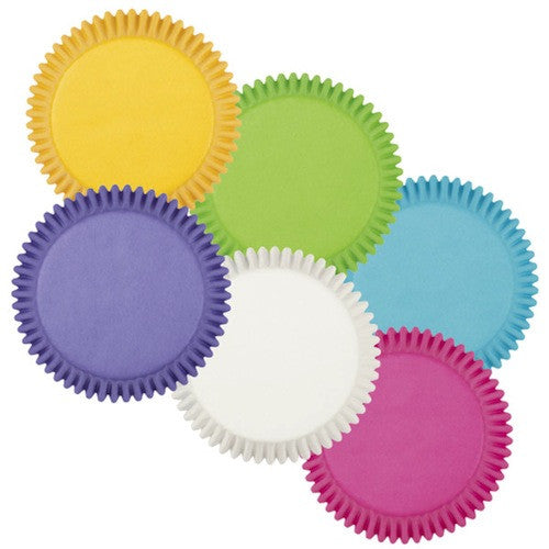 bright rainbow multi-colored standard cupcake liners