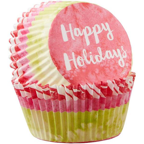 Happy Holidays Standard Cupcake Liners