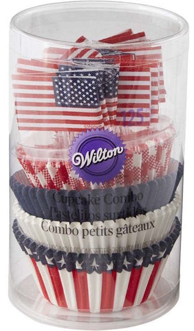 Wilton Patriotic Cupcake Liners and Picks Combo Set