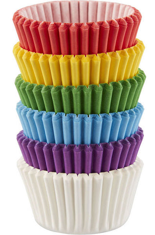 Rainbow Mini Cupcake Liners 150 count