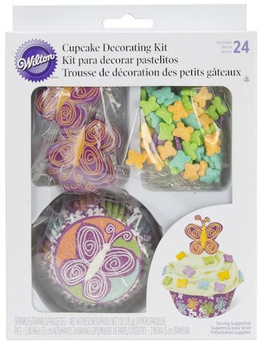 butterfly cupcake decorating kit