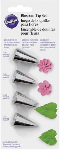 Blossom Flowers 4-piece Decorating Tip Set