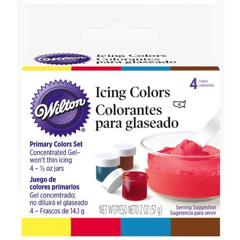 Primary Gel Icing Colors Set by Wilton