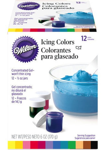 12 Gel Icing Colors Set by Wilton