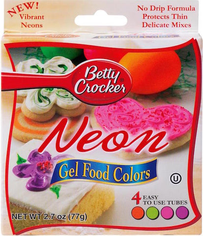 Betty Crocker Neon Gel Food Color Set