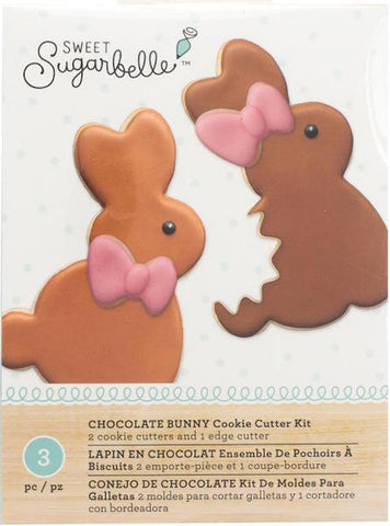Sweet Sugarbelle Chocolate Bunny Cookie Cutter Set