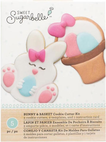 Sweet Sugarbelle Easter Bunny & Basket Cookie Cutter Set