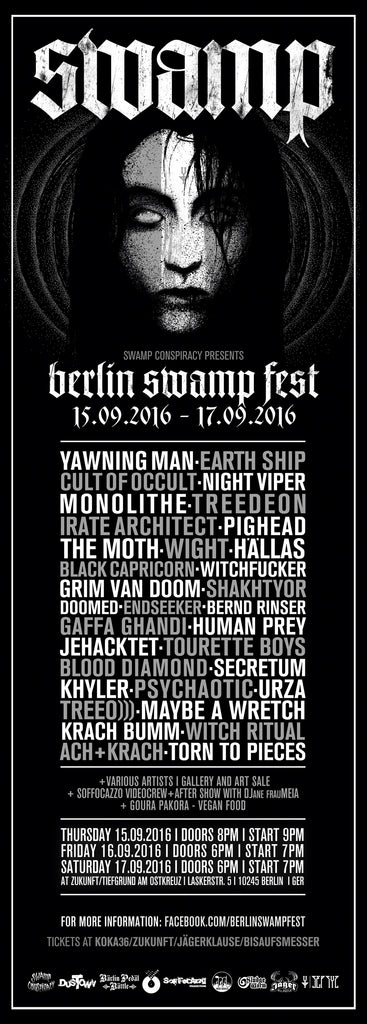 Berlin Swamp Fest Bands 2016