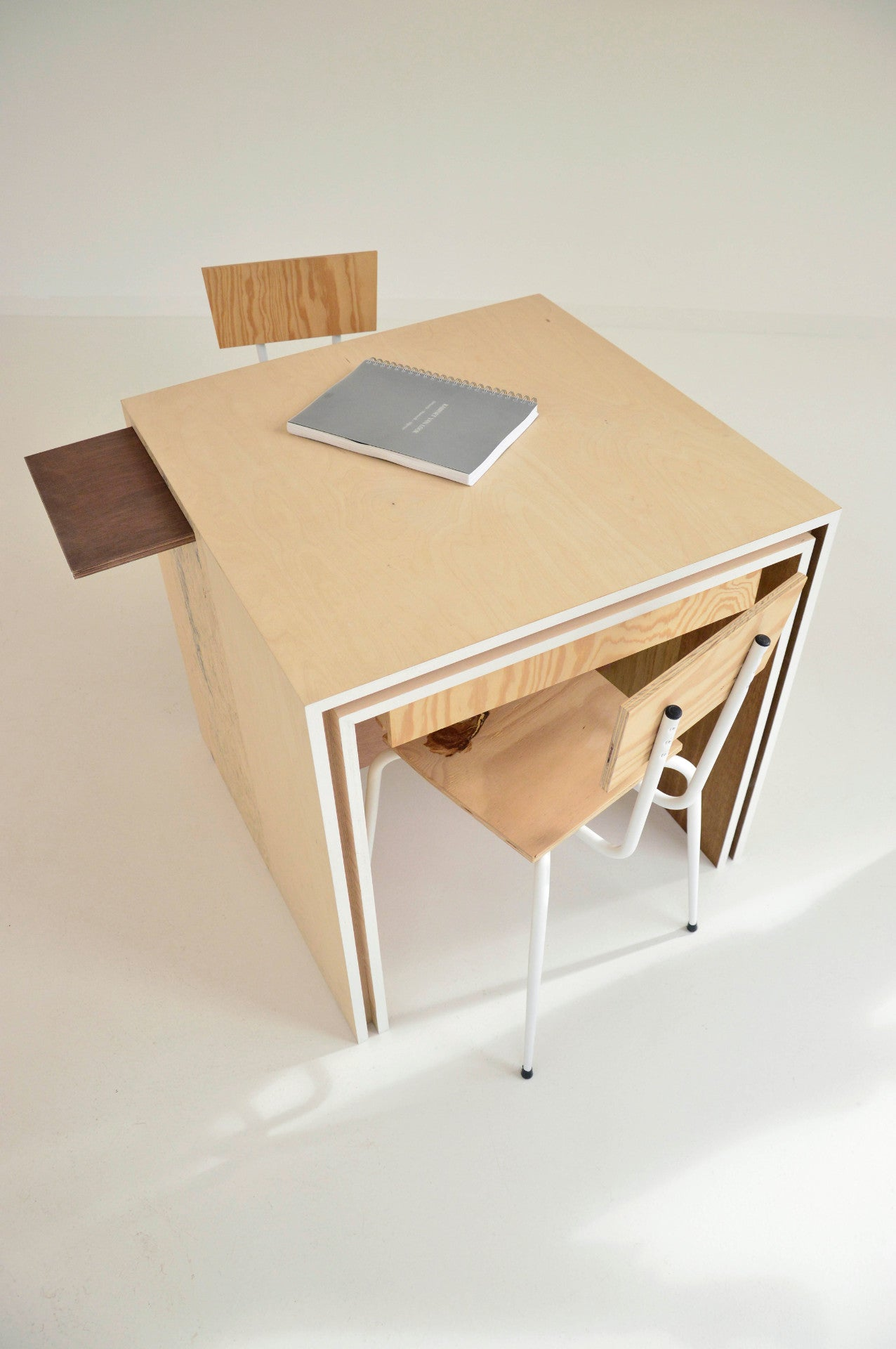 Custom designed desk with extendable elements