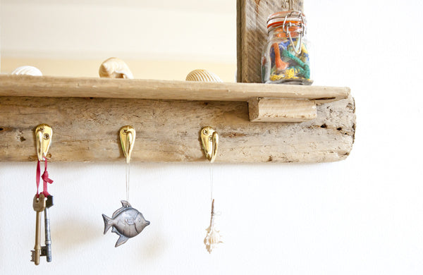 Driftwood Mirror With Shelf (Small)