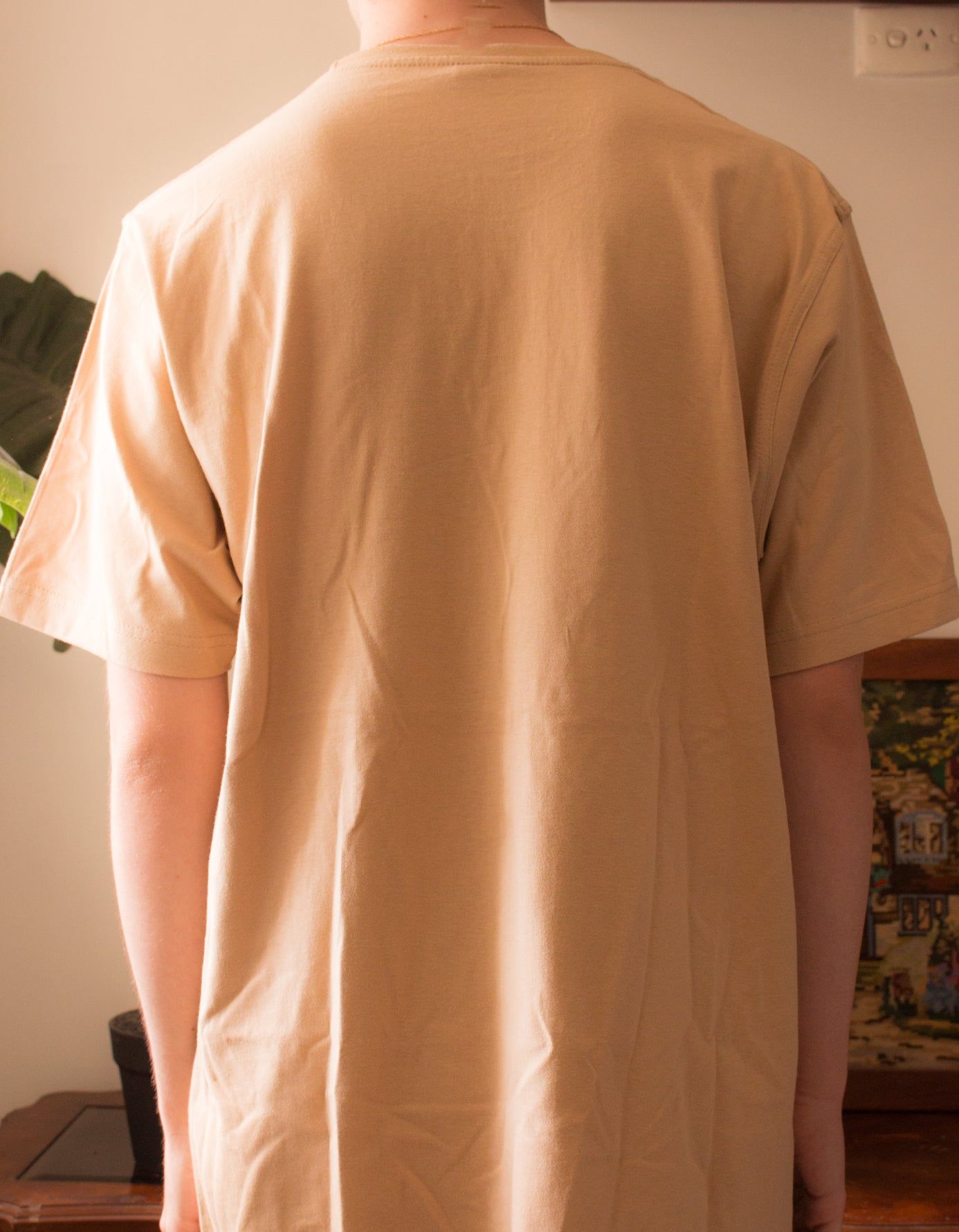 Autumn Season - Beige Cotton T-Shirt