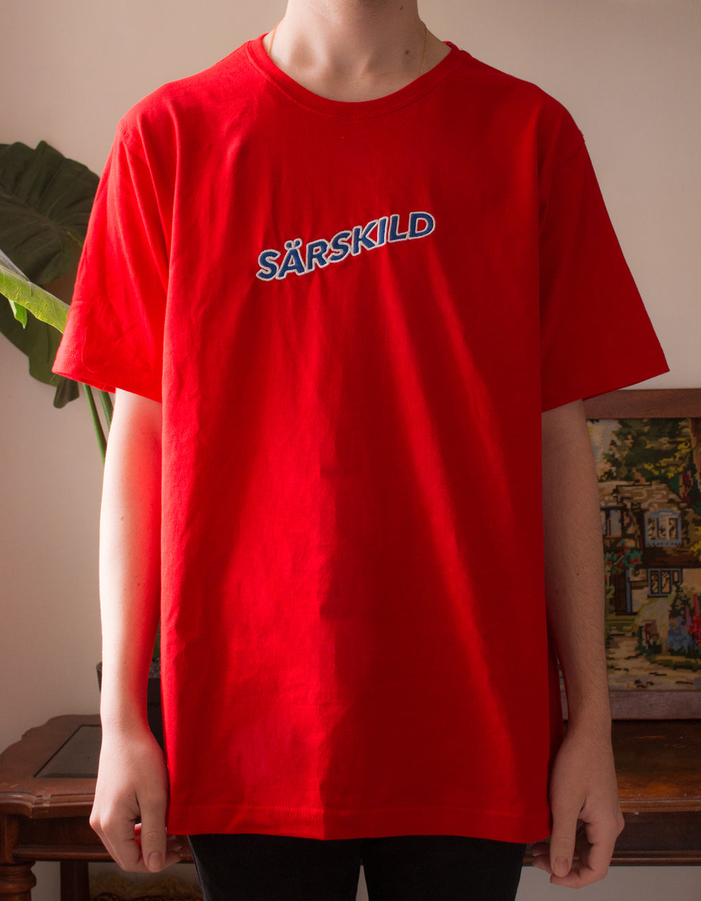 Sunset Season - Red Cotton T-Shirt