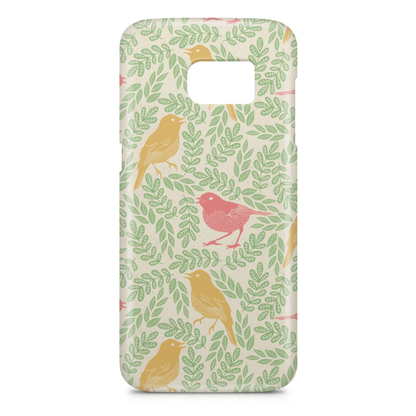 Birds and leaves phone case