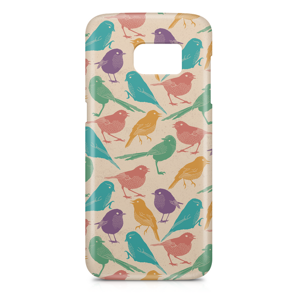Multicoloured birds phone case
