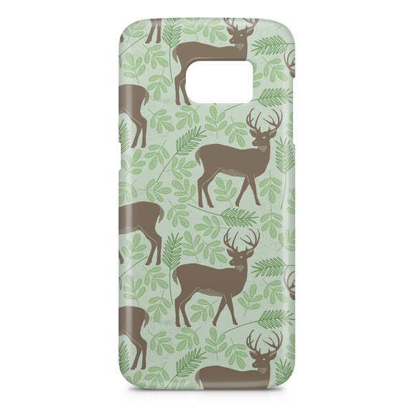 Deer in the wilderness with antlers phone case