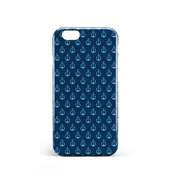 Blue anchor phone case