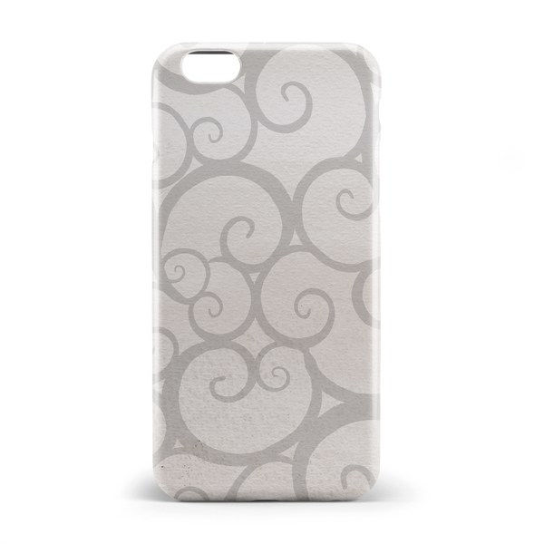 Beige coloured curl pattern phone case