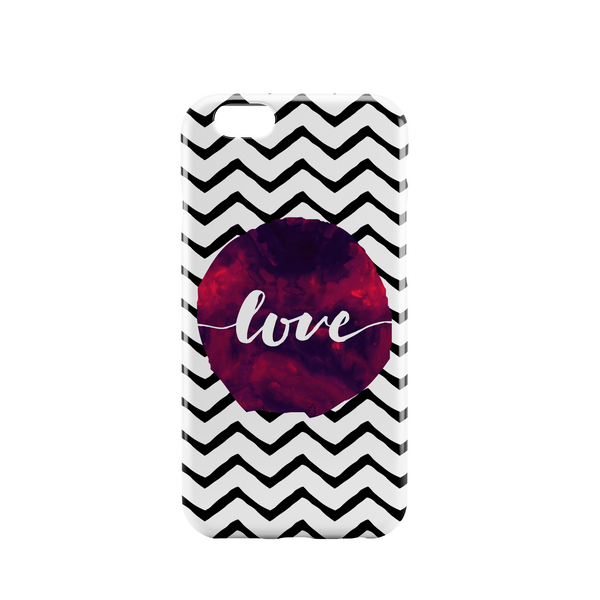 Zig zag pattern with watercolour effect phone case