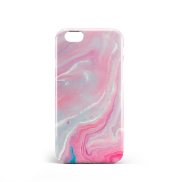 mystical pink marble effect phone case