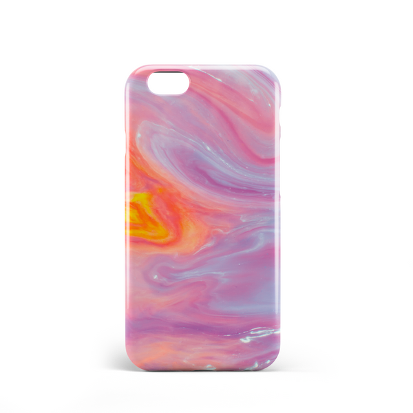 orange lilac marble effect phone case