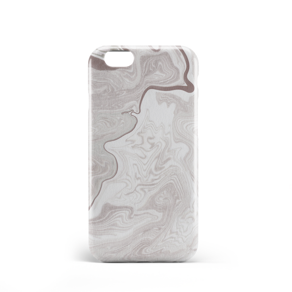 marble effect white grey phone case