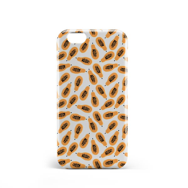 papaya pattern phone case