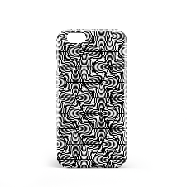 Black diamond stars phone case
