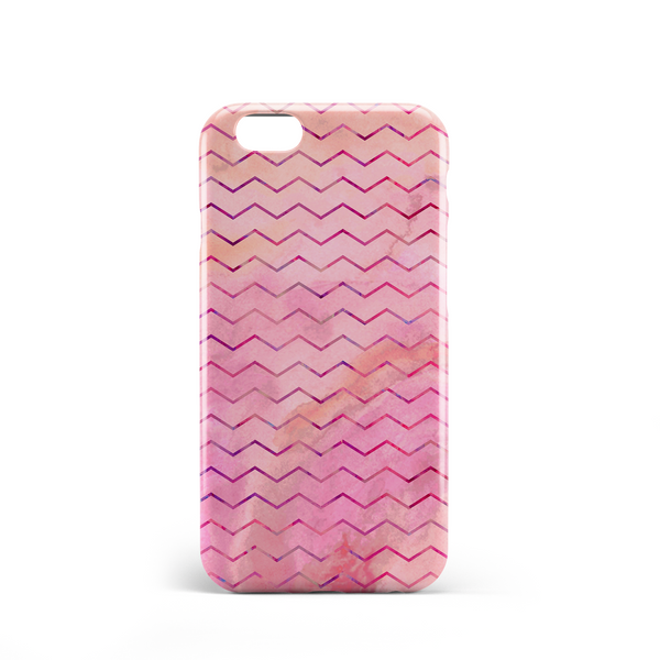 Pink zig zag pattern phone case