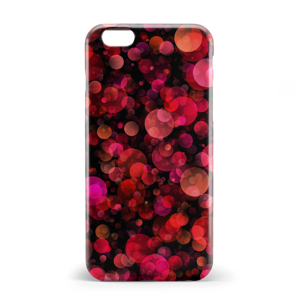 Red and pink bubbles phone case