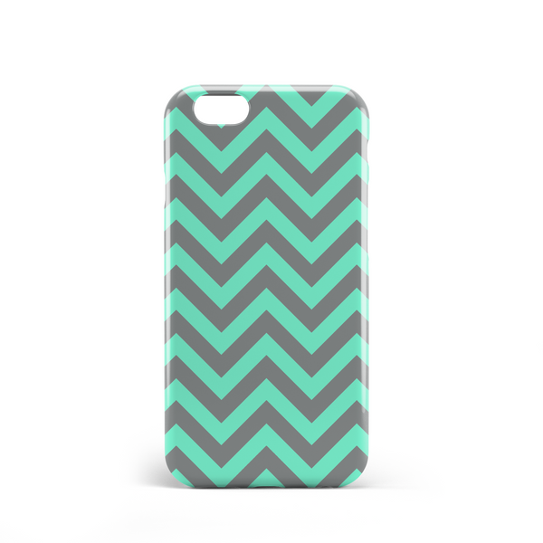 Light green and grey pattern phone case