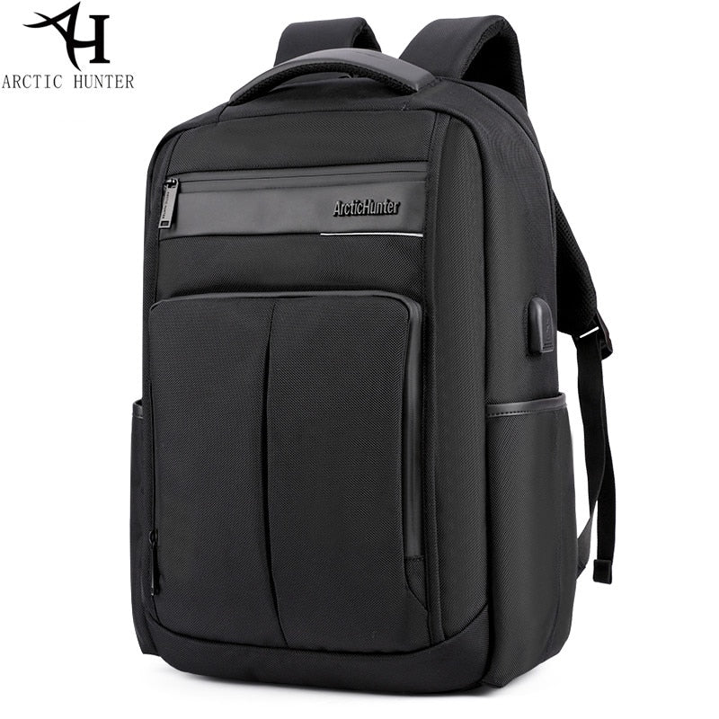 955fe4560b74 ARCTIC HUNTER USB school backpacks for teenage waterproof Nylon&PU Bus
