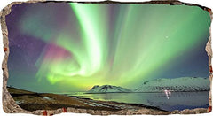 Startonight 3D Mural Wall Art Photo Decor Aurora Borealis Amazing Dual View Surprise Large 32.28 inch By 59.06 inch Wall Mural Wallpaper for Living Room or Bedroom Landscape Collection Wall Art