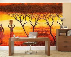 Startonight Mural Wall Art Photo Decor African Theme Large 8-feet 4-inch By 12-feet Wall Mural for Living Room or Bedroom