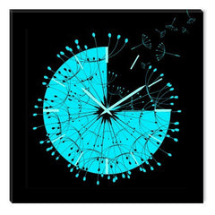 Startonight Canvas Wall Art Abstract Clock, Abstract USA Design for Home Decor, Dual View Surprise Artwork Modern Framed Ready to Hang Wall Art 31.5 X 31.5 Inch 100% Original Art Painting!