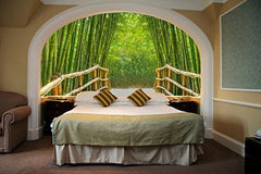 Startonight Mural Wall Art Photo Decor Bamboo Alley Medium 4-feet 2-inch By 6-feet Wall Mural for Living Room or Bedroom