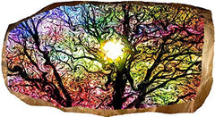 Startonight 3D Mural Wall Art Photo Decor Abstract Colored Tree Amazing Dual View Surprise Large 32.28 inch By 59.06 inch Wall Mural Wallpaper for Living Room Abstract Collection Wall Art