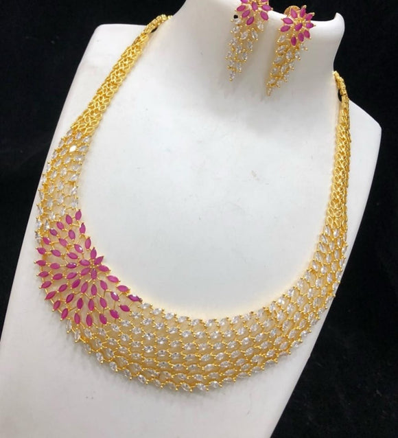 American Diamond studded necklace